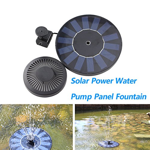 Kleanco Home It - Fountain Solar Power Submersible Floating Plant Water Pump Pool Patio ()
