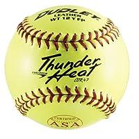 Dudley ASA Thunder Heat, bola de cuero suave de 12 pulgadas de lanzamiento rápido, paquete de 12