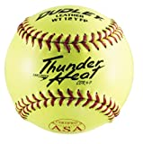 Dudley ASA Thunder Heat Fast Pitch Leather 12-Inch Soft Ball - Pack of 12