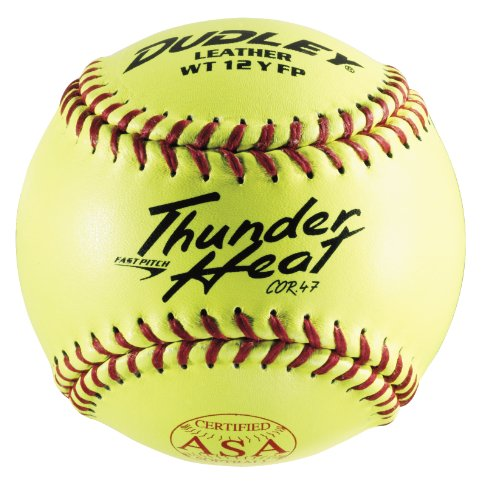 Dudley ASA Thunder Heat Fast Pitch Leather 12-Inch Soft Ball - Pack of 12 ()