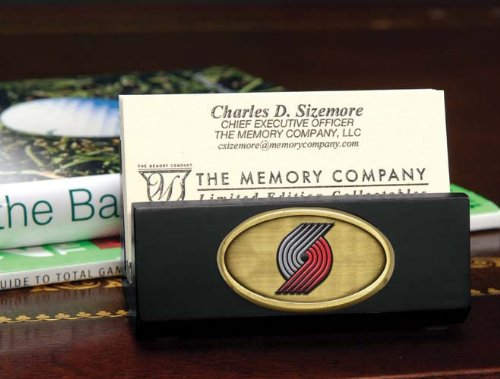 The Memory Company NBA Portland Trail Blazers Official Black Business Card Holder, Multicolor, One Size by The Memory Company