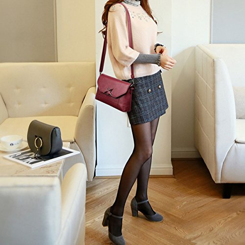 Impermeabile Da Rosso Borsa amp;doris Donne Viaggio Messenger Tracolla A Bag Pu Nicole Crossbody Rfq6nxwaSv
