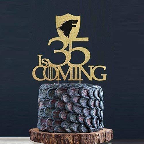 (50, 45, 40, 35, 30, 21, 20 is Coming Cake Topper, GOT Cake Topper, GOT Birthday Cake, Winter is Coming, GOT Party Toppers, GOT Fans)