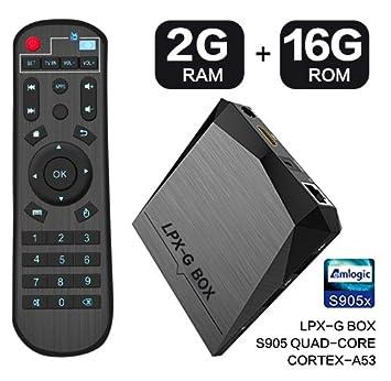 LPX G BOX GB  GB Android  TV Box con control