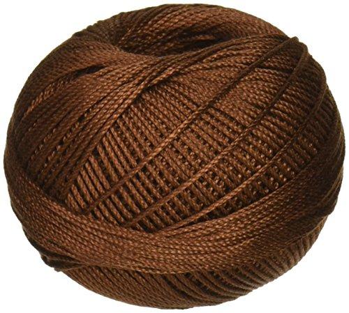 Lizbeth Cordonnet Cotton Size 3-Mocha Brown (Brown Crochet)