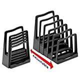 Avery 73523 Adjustable File Rack, Five Sections, 8 x 10 1/2 x 11 1/2, Black