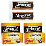 Airborne (40 Count) Vitamin C Vitamin E Magnesium Zinc Supplement for Immune Support Orange Flavor