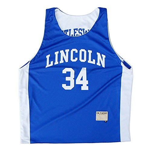 Lincoln Jesus Shuttlesworth #34 Sublimated Reversible, Royal, X Large