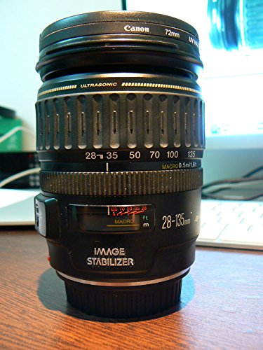 Canon EF 28-135mm f/3.5-5.6 is USM Standard Zoom Lens for Canon SLR Cameras - White Box