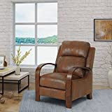 Great Deal Furniture | Randall | Traditional Exposed Wood Microfiber Recliner | in Brown