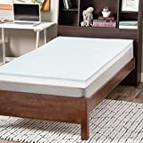 Select Luxury Dorm 3-inch Gel Memory Foam Flippable Mattress Topper Twin