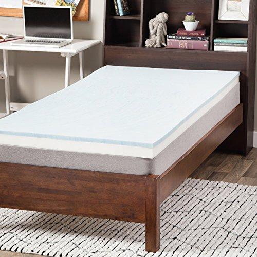 Select Luxury Dorm 3-inch Gel Memory Foam Flippable Mattress Topper Twin by Select Luxury