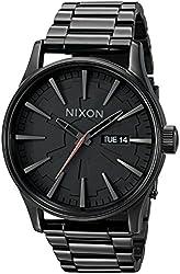 Nixon Men's A356SW-2244-00 Sentry SS Star Wars Analog Quartz Stainless Steel Vader Black Watch