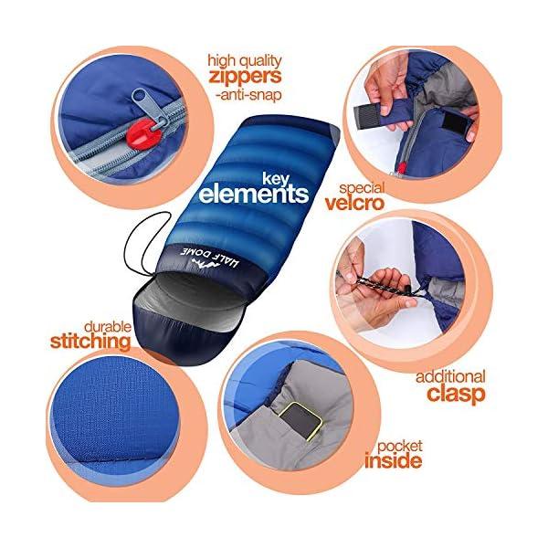 Half Dome Camping Sleeping Bag Set Women Men Backpaking Outdoor Sleeping Option Ultralight Compact Sleeping Bag