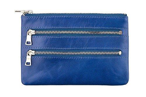 Anxiety Zip Leather Molly Molly Anxiety Status Status Wallet Leather Multi Royal Blue Multi wOW4RfF
