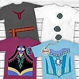 Anna-Elsa-Olaf-Kristoff-Froze Halloween Group Costume Shirt Customized Text Handmade Hoodie/Sweater/Long Sleeve/Tank Top/Premium T-shirt