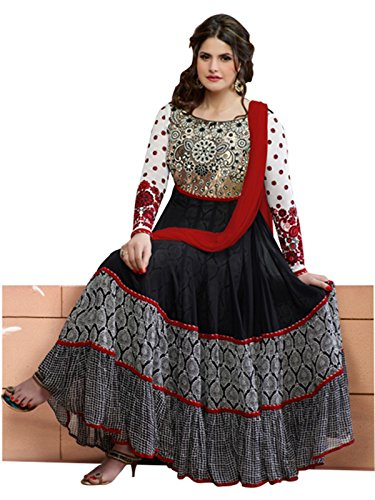 Zarin-Khan-Black-And-White-Neck-Embroidered-Semi-Stitched-Long-Anarkali-SuitBlack-and-WhiteXX-Large