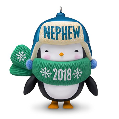 (Hallmark Keepsake Christmas Ornament 2018 Year Dated, Nephew Penguin)