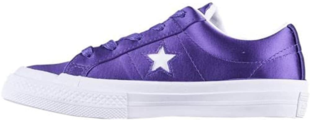 Converse One Star OX Court Fashion Sneakers Purple//White//White Size 2.5 Little Kid