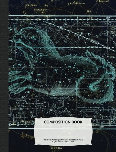 Read Online Outer Space Constellation Cetus Sea Monster Composition Book, Blank Sketch Paper: Drawing Sketchbook Art Paper, 200 pages (Night Sky Astronomy Series) ebook
