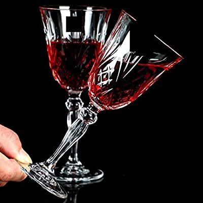 Italian Crystal Red Wine Glasses [Set of 6] Wine Goblets – Cordial Glasses Perfect for Any Occasion, Premium Quality Wine Glass Set | 9 Ounce