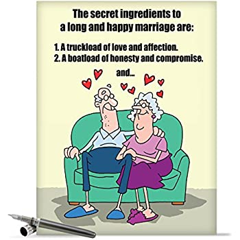 Amazon j9780 jumbo funny anniversary card marriage secrets j9780 jumbo funny anniversary card marriage secrets with envelope extra large version 85 m4hsunfo Gallery