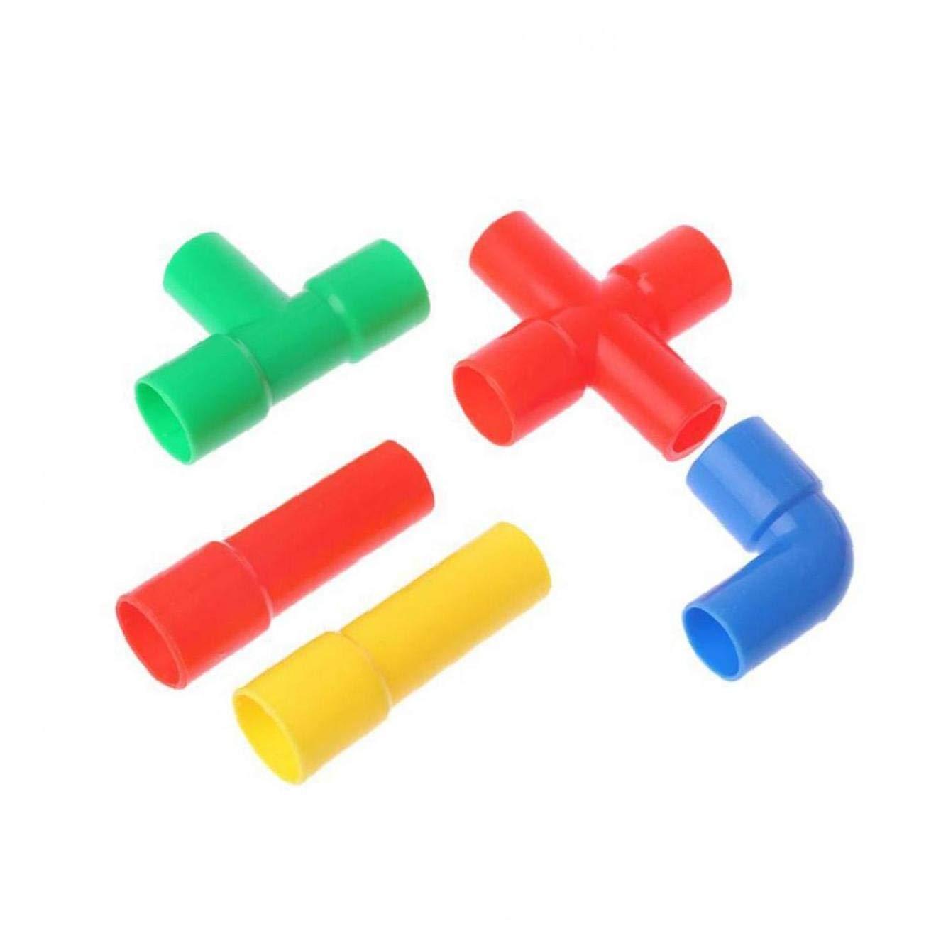 VlugTXcJ 1 Satz Bunte Geb/äude Rohrblocks DIY Pipeline Bl/öcke Interlocking BAU P/ädagogisches Spielzeug F/ür Kids Style 033