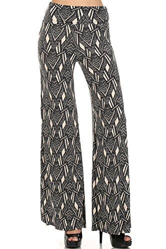 (Plus Size) Women's Stylish Geometric Print Palazzo Pants (Made in U.S.A)