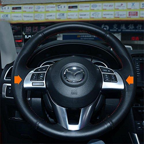 Vesul Chrome Steering Wheel Panel Cover Badge Insert Trim For Mazda CX-5 CX5 2013-2015 from Vesul