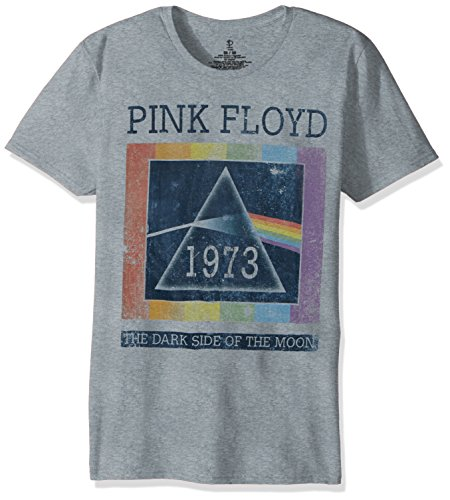 Pink Floyd Unisex-Adults Dark Side of The Moon Short Sleeve T-Shirt, Heather Grey, Large