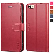 iPhone 6s Case iPhone 6 Case, TUCCH iPhone 6/ 6s Wallet Case, Premium PU Leather Flip Cover Foldable Kickstand, Card Slots Magnetic Clasp - Red