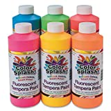 tempera paint neon - S&S Worldwide 16-oz Color Splash! Neon Liquid Tempera Paint Assortment (set of 6)