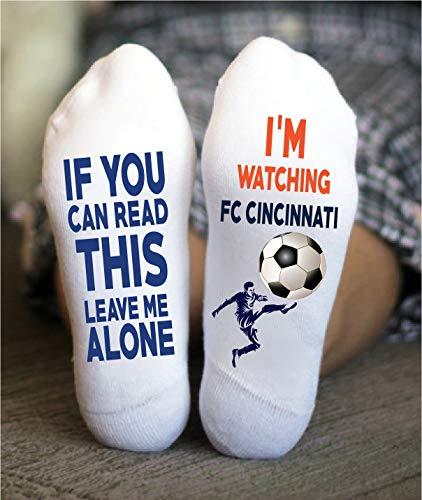 FC Cincinnati Soccer Socks Funny Gift Major League Game Day ()
