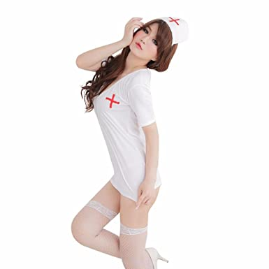 Amazon.com: wesracia enfermera sexy cosplay ropa interior ...