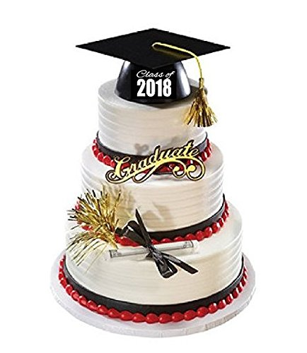 Graduate Cake Topper - Class of 2018 Mega Cake Decoration Cake Topper Deluxe Kit