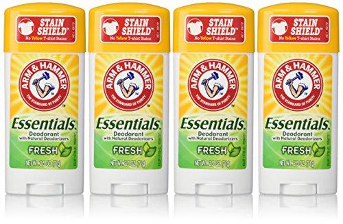 ARM & Hammer Essentials desodorante, fresco, 2.5 Oz/pack, paquete de 4