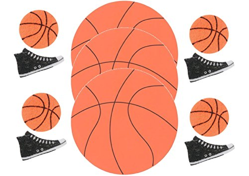 Basketball Foam and Felt Shapes- 62 Pieces