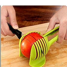 "Generic Tomato Slicer Multifunctional Handheld Tomato Round Slicer Fruit Vegetable Cutter Lemon Shreadders Slicer 8 Mold Size :18.5 x 8 CM /7.3 ""X 3.1"" Easy to operate Safe and reliable"