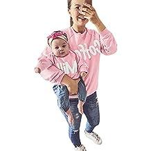 PENATE Mammy & Baby Girl Long Sleeve Sweatshirt Parent-Kid O-Neck Family Blouse