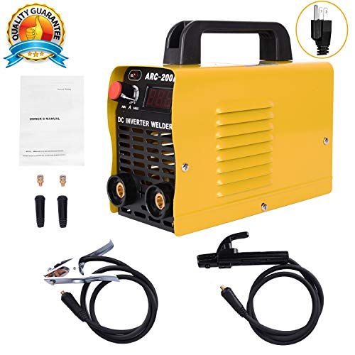 Welding Machine, 110V, 200Amp Power, IGBT AC DC Beginner Welder With Display LCD Use Welding Rod Equipment Tools Accessories ... ...
