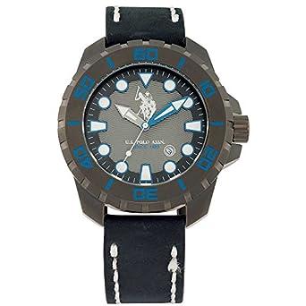 Uhr usp4260bl U.S. Polo Assn. in Leder Schwarz Eagle Blau