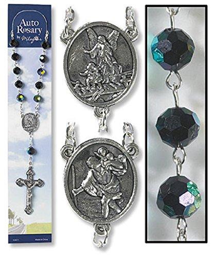 - Catholic Church Saint Guardian Angel Black Auto Rosary for Cars Trucks