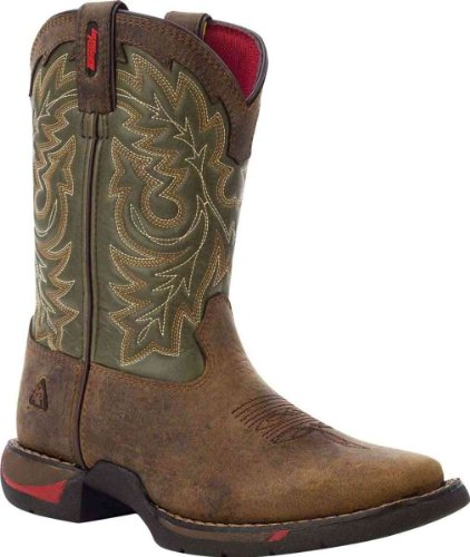 Amazon.com | Rocky Youth Long Range Square Toe Western Boot Tan ...