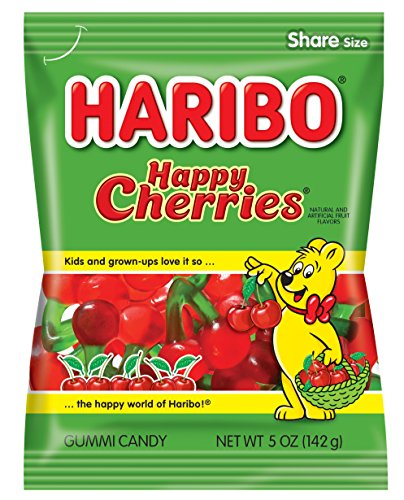 Haribo Gummi Candy, Happy Cherries, 5 oz. Bag (Pack of 12) Review