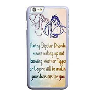 Grouden R Create and Design Phone Case,Eeyore Cell Phone Case for iPhone 6 6S plus 5.5 inch White + Tempered Glass Screen Protector (Free) GHL-5540630