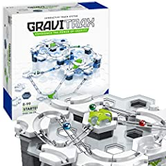 With the gravitrax interactive track system and marble run, you can design and build your own race tracks and experiment with gravity, magnetism, and kinetics to propel your ball to the finish. With a variety of tiles, levels, tracks and feat...