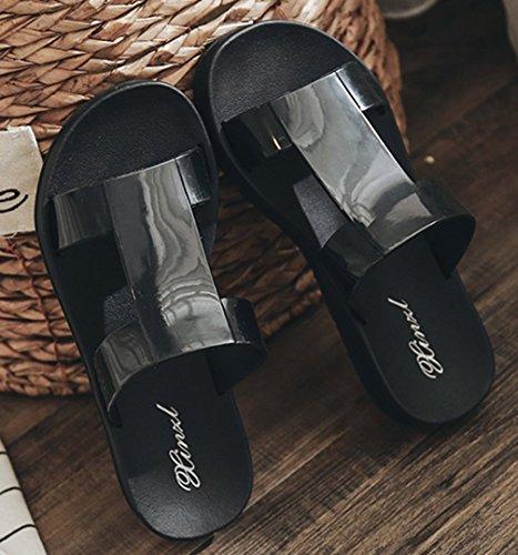 Pantofole Da Donna Cattior Estate Spiaggia Estiva Scivolano Sandali Neri