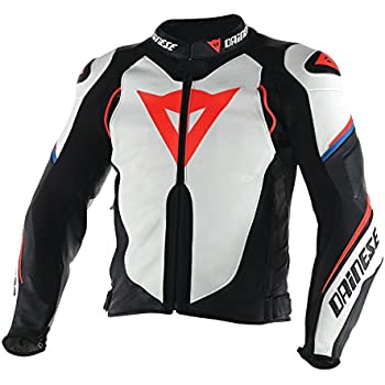 Dainese Super Speed D1 Leather Motorcycle Jacket White