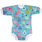Splash About Baby Happy Nappy Wetsuit- 2 in 1 Baby Wetsuit and Diaper (Large 6-14 Months, Tutti Frutti)