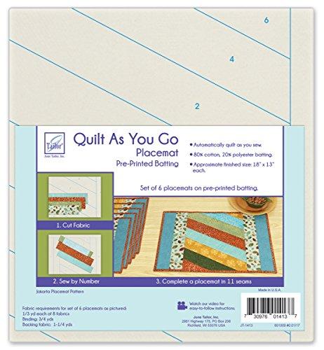June Tailor Home Décor Series Quilt As You Go Placemats (6) (C) -Jakarta by June Tailor